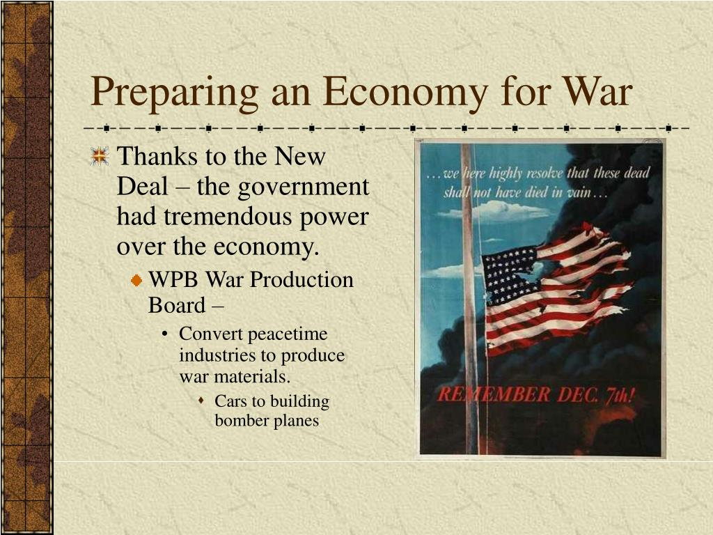 Preparing an Economy for War