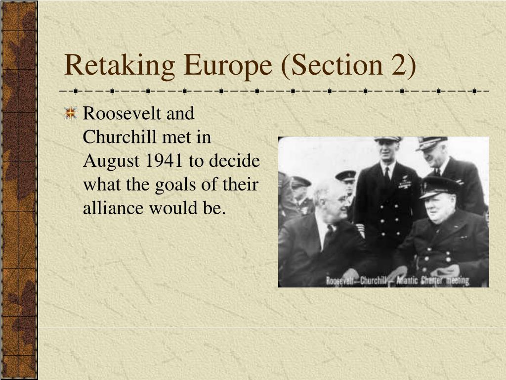Retaking Europe (Section 2)