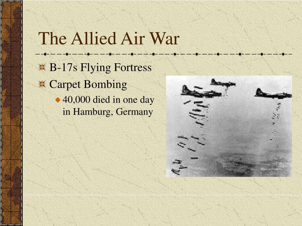 The Allied Air War