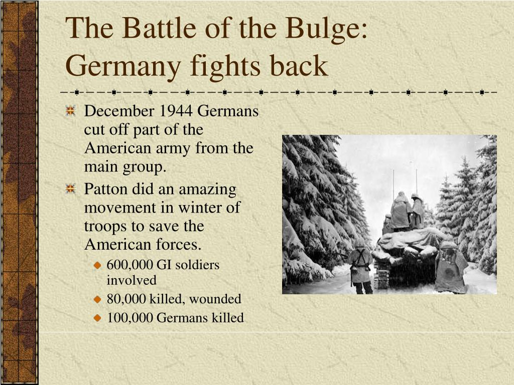 The Battle of the Bulge: Germany fights back