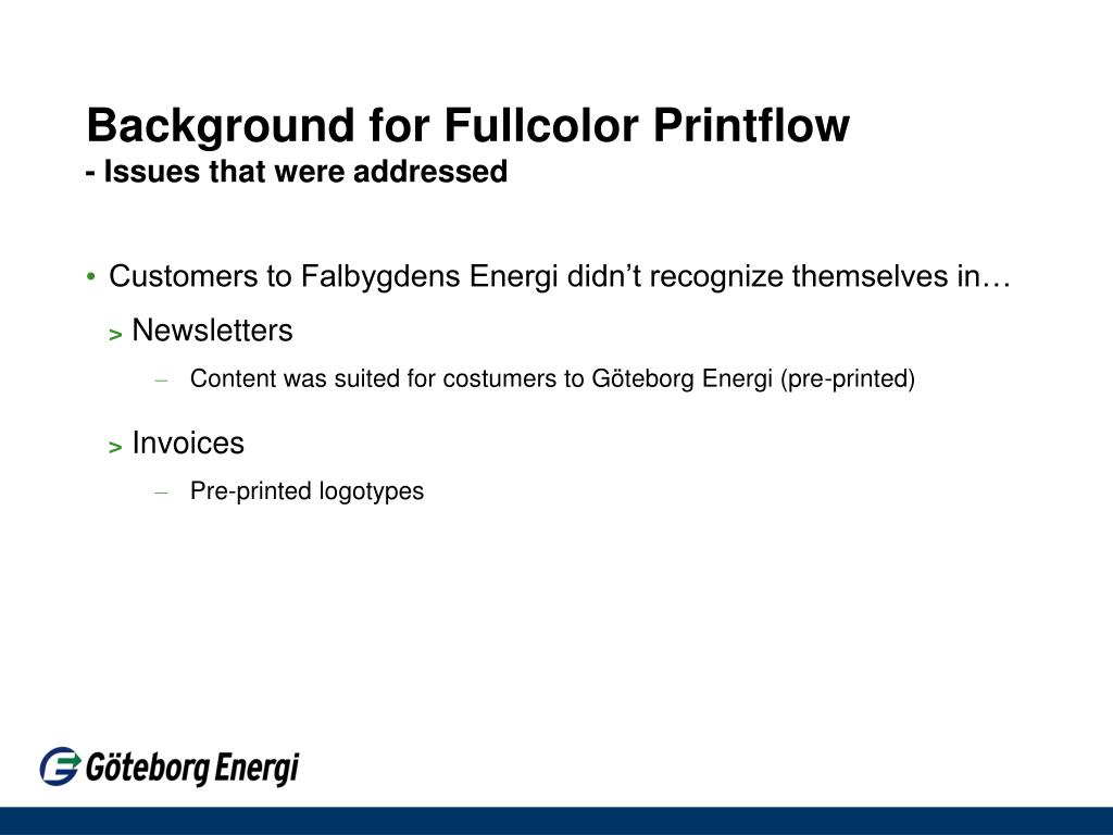Background for Fullcolor Printflow
