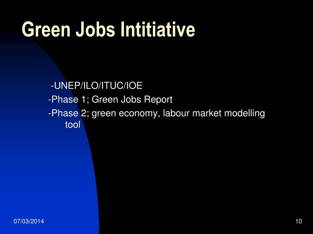 Green Jobs Intitiative