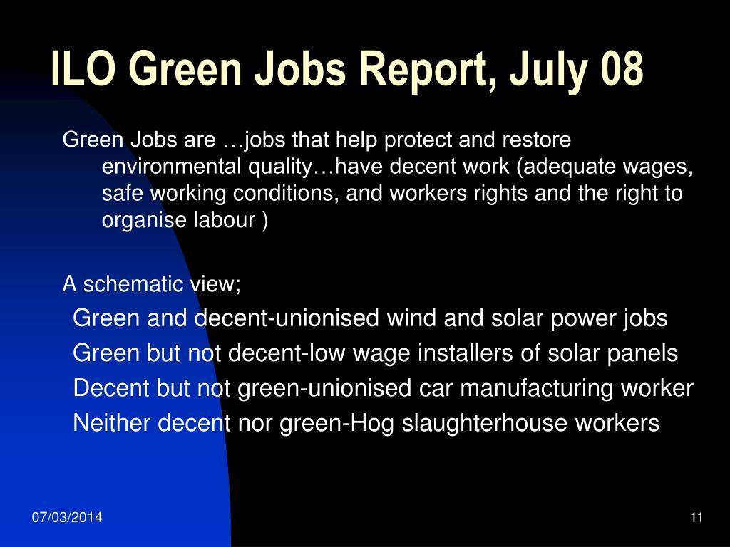 ILO Green Jobs Report, July 08
