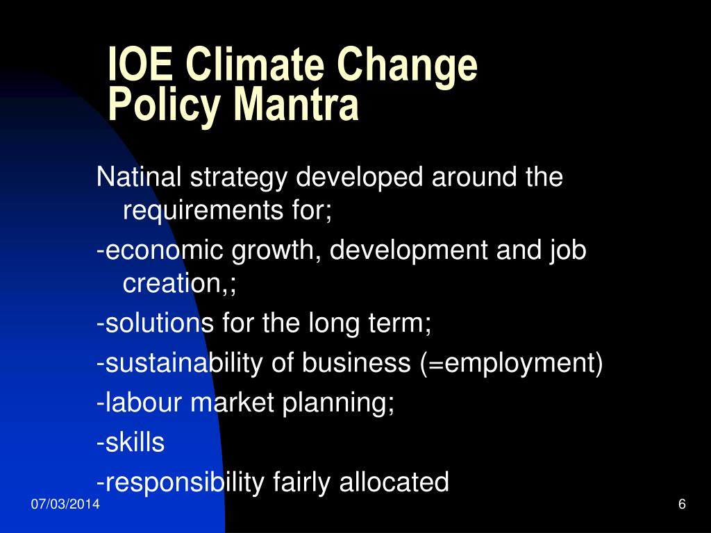 IOE Climate Change