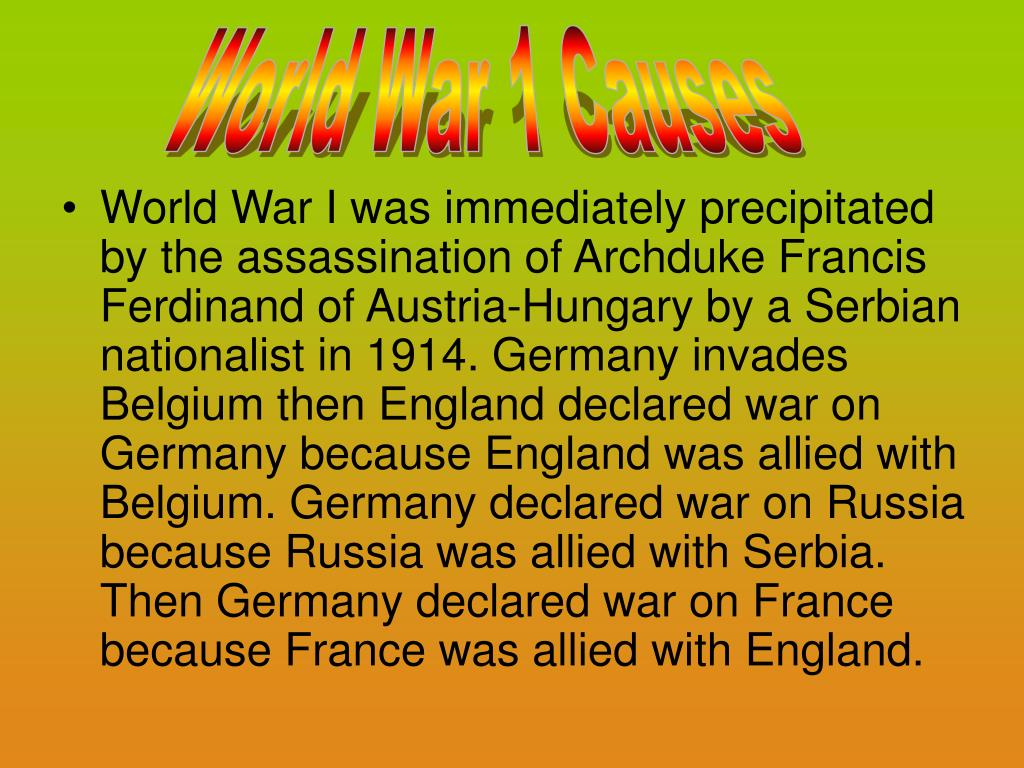 World War 1 Causes