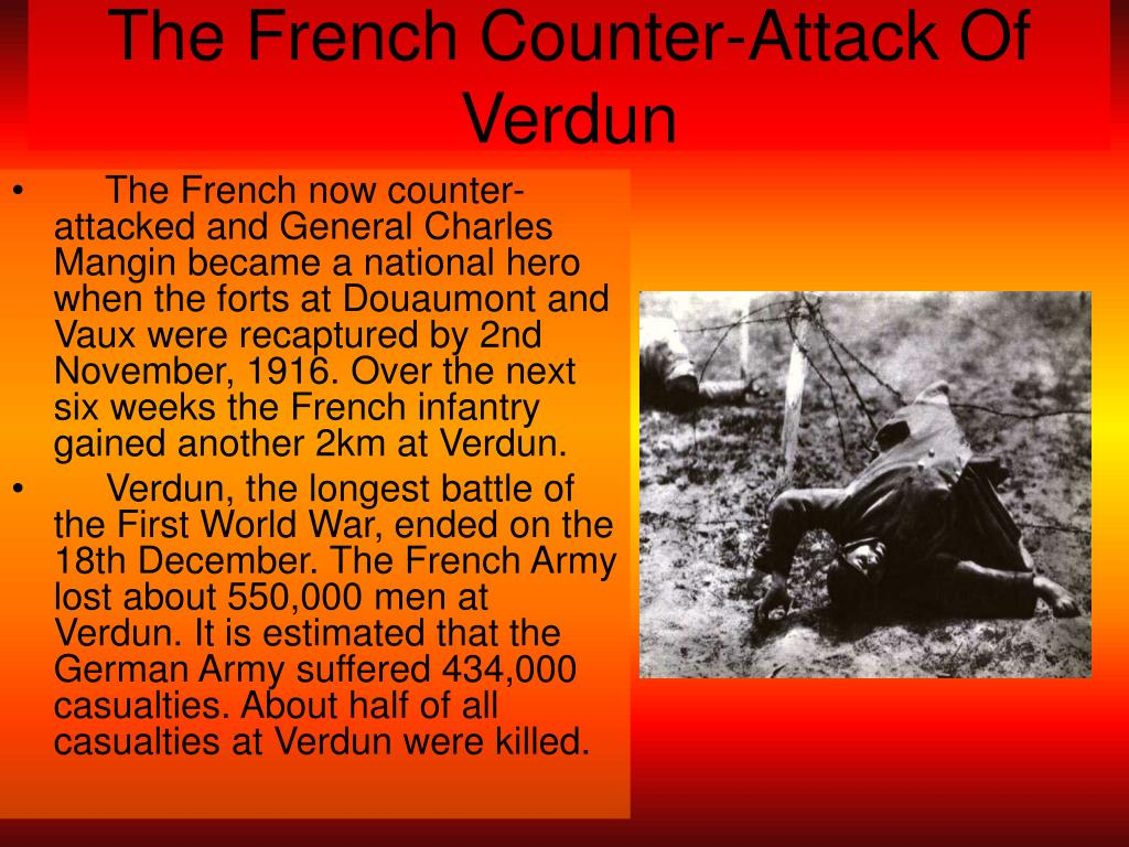 The French Counter-Attack Of Verdun