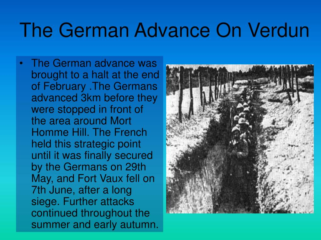 The German Advance On Verdun
