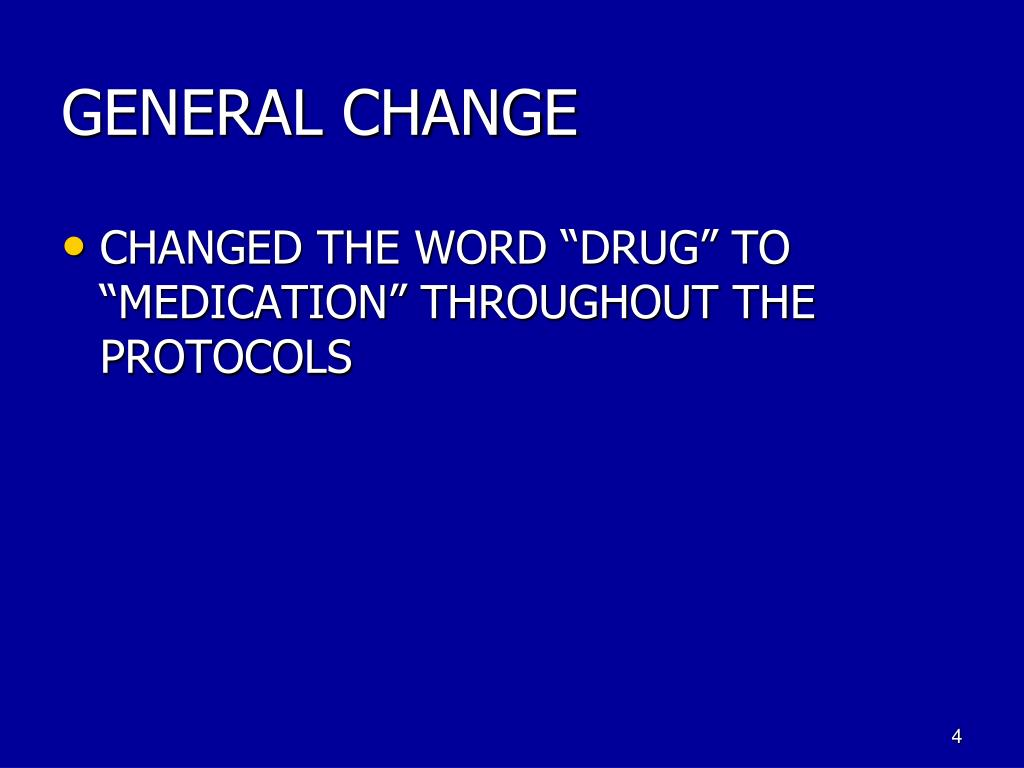 GENERAL CHANGE