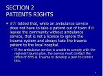 section 2 patients rights8