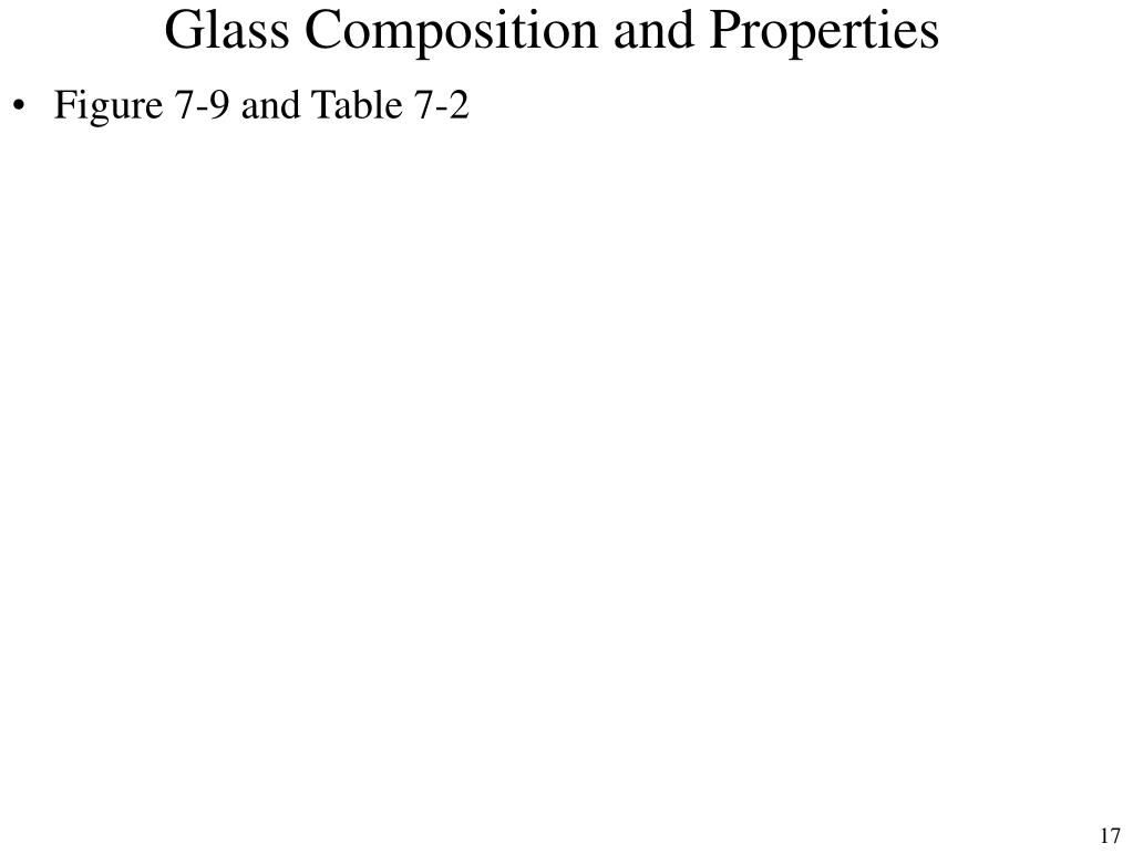 Glass Composition and Properties