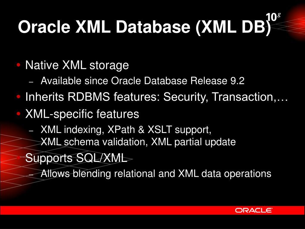 Oracle XML Database (XML DB)