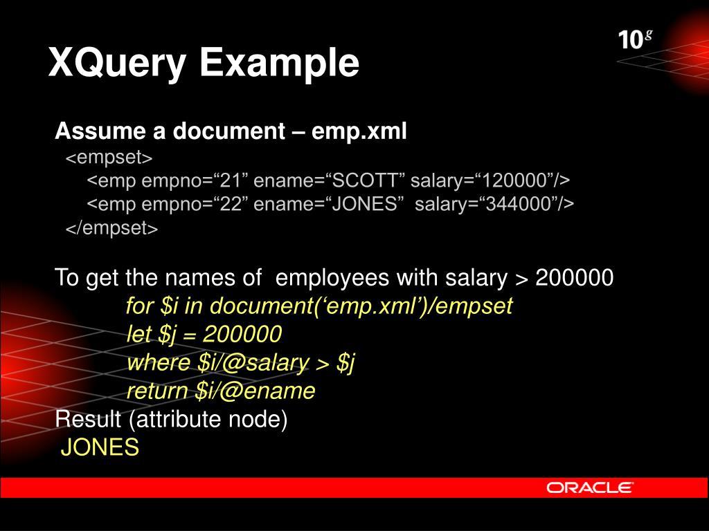 XQuery Example