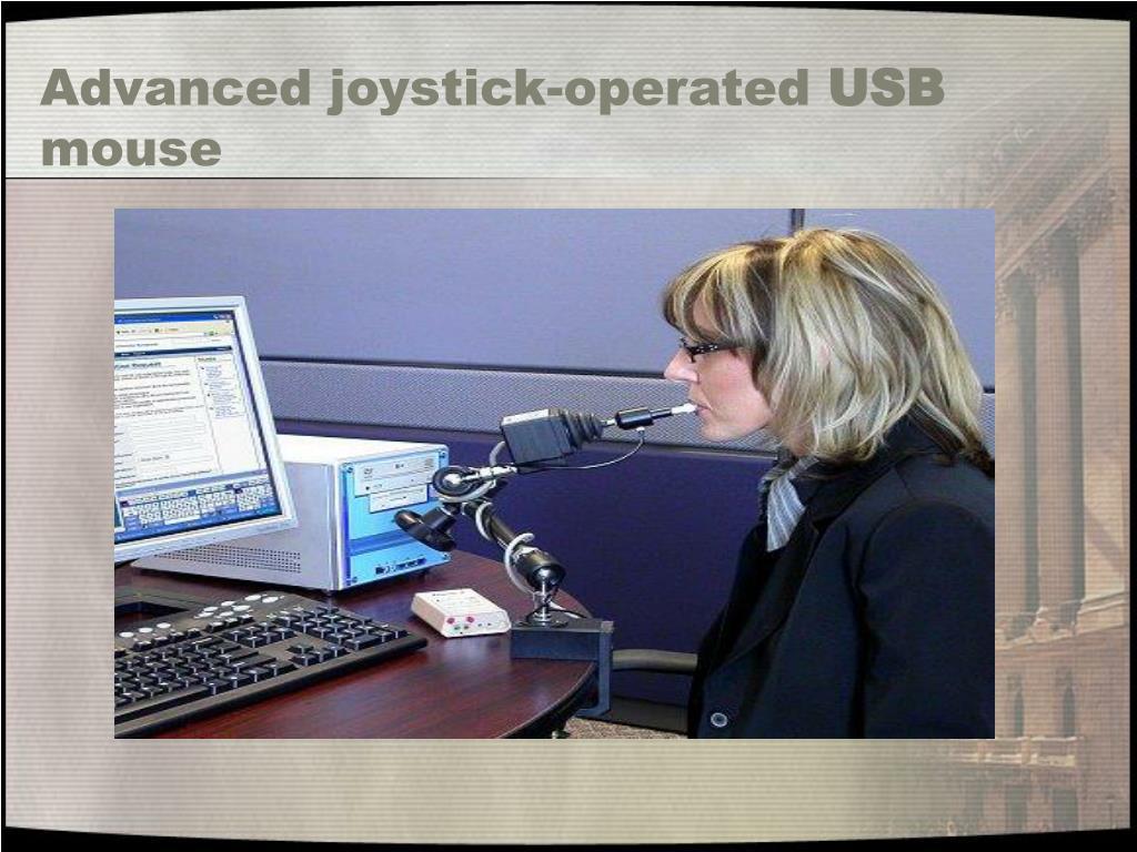Advanced joystick-operated
