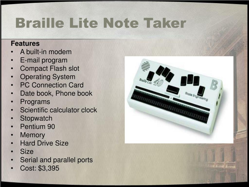 Braille Lite Note Taker