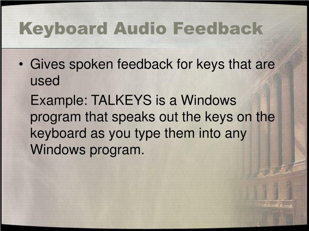 Keyboard Audio Feedback