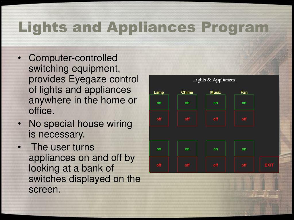 Lights and Appliances Program