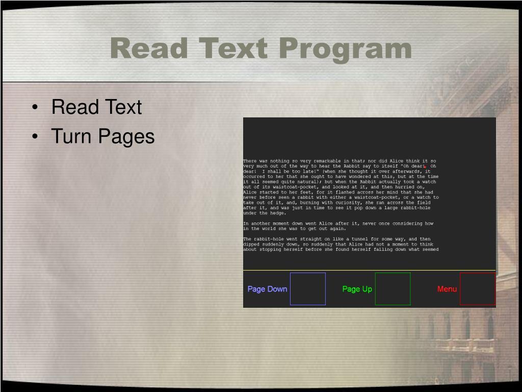 Read Text Program