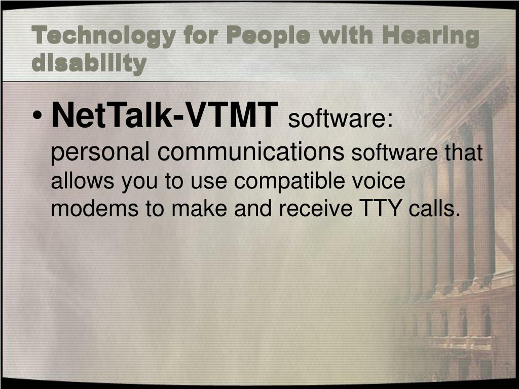 Technology for People with Hearing disability