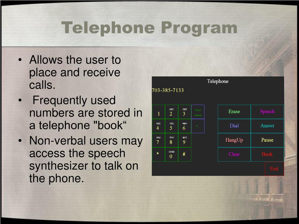 Telephone Program