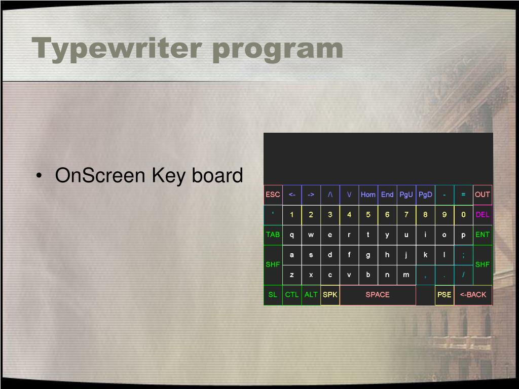 Typewriter program