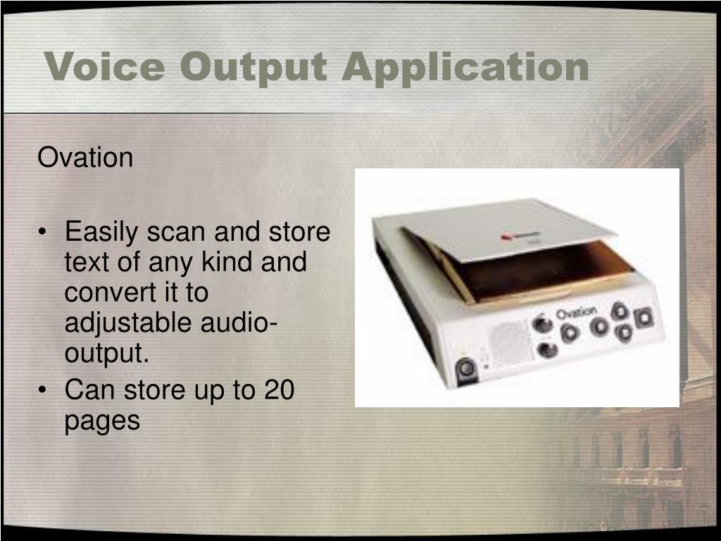 Voice Output Application