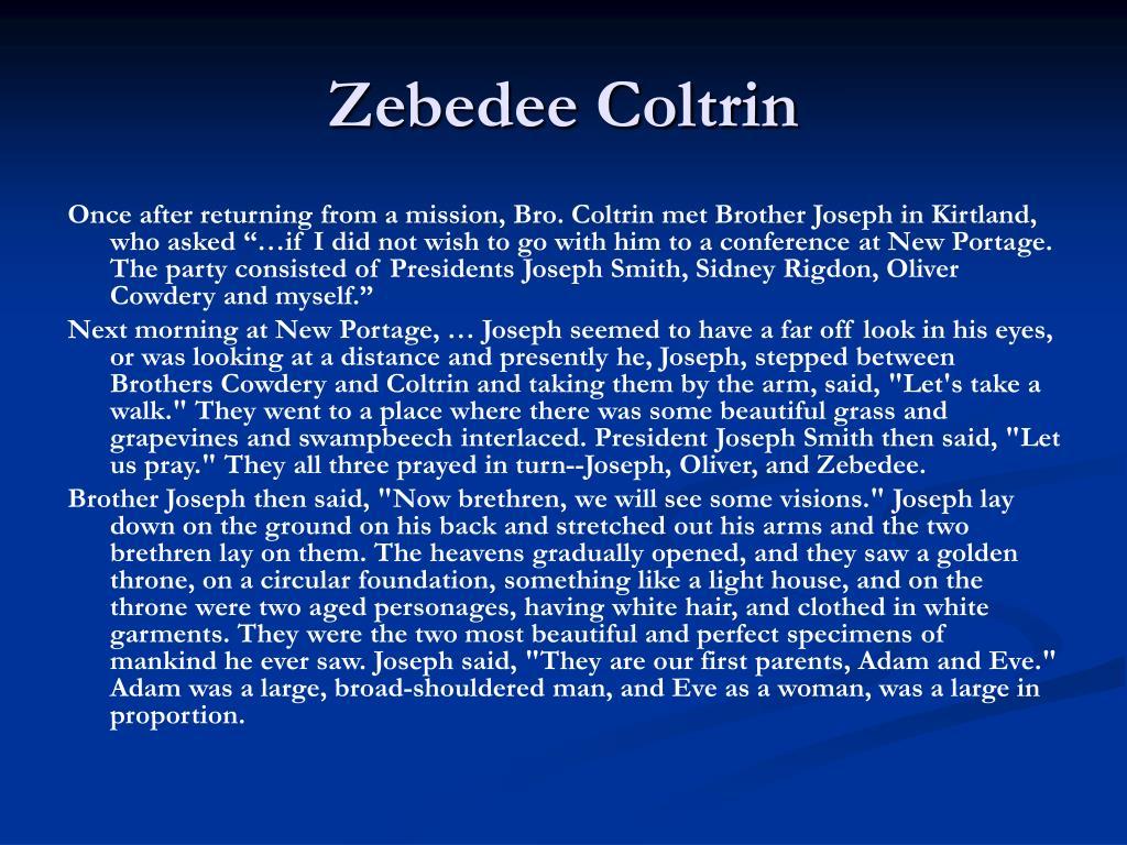 Zebedee Coltrin