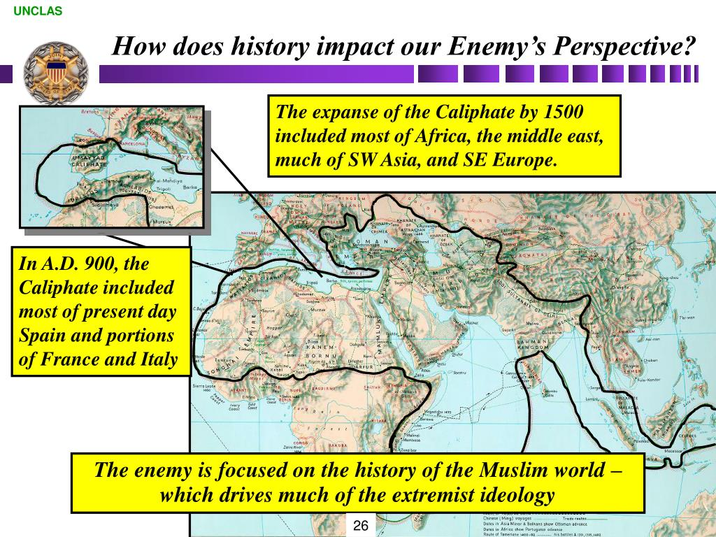How does history impact our Enemy's Perspective?