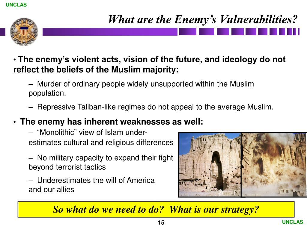 What are the Enemy's Vulnerabilities?