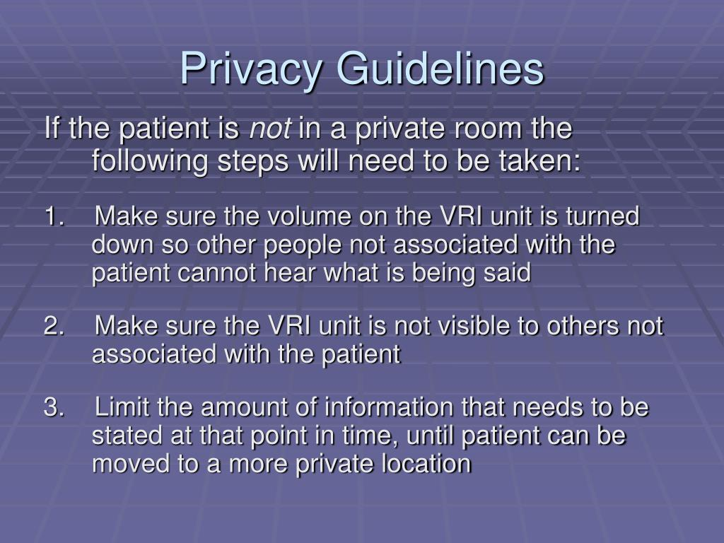 Privacy Guidelines