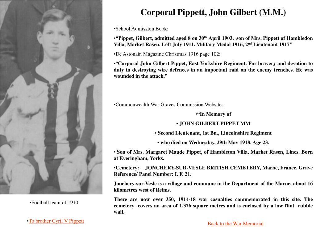 Corporal Pippett, John Gilbert (M.M.)