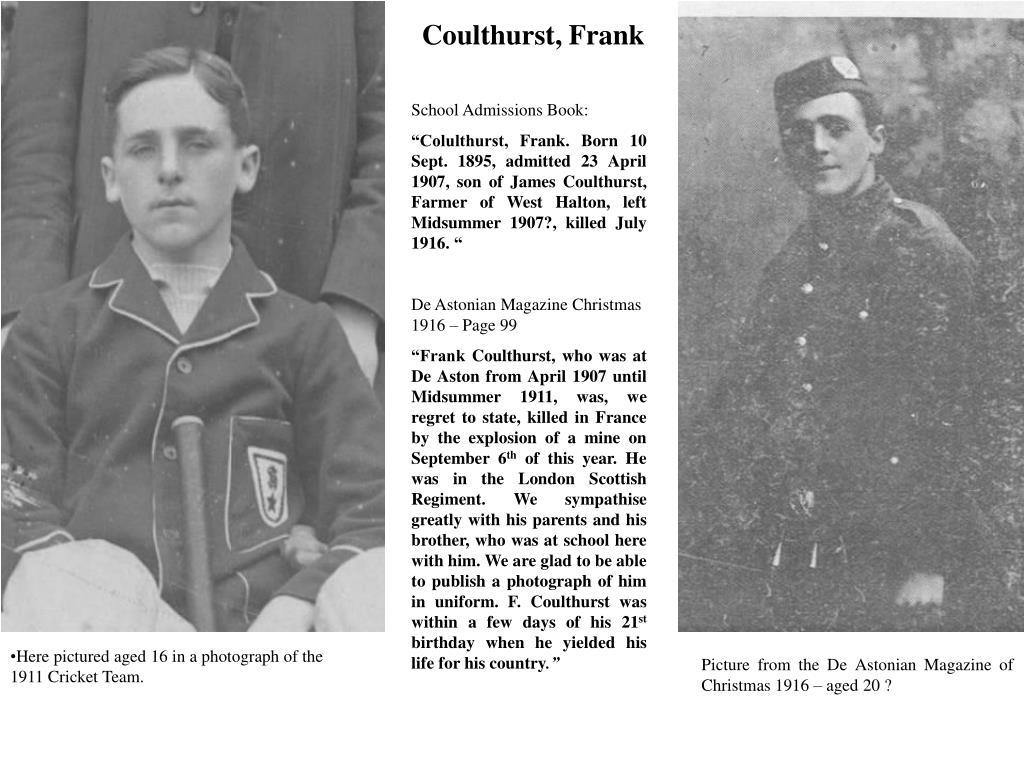 Coulthurst, Frank
