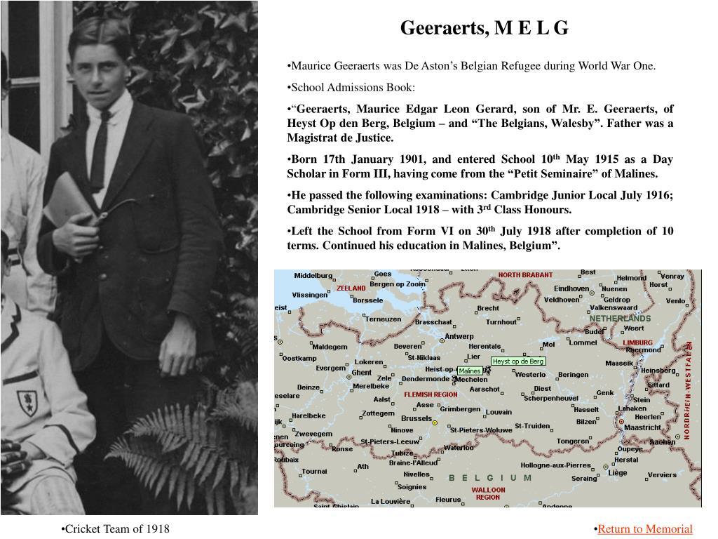 Geeraerts, M E L G