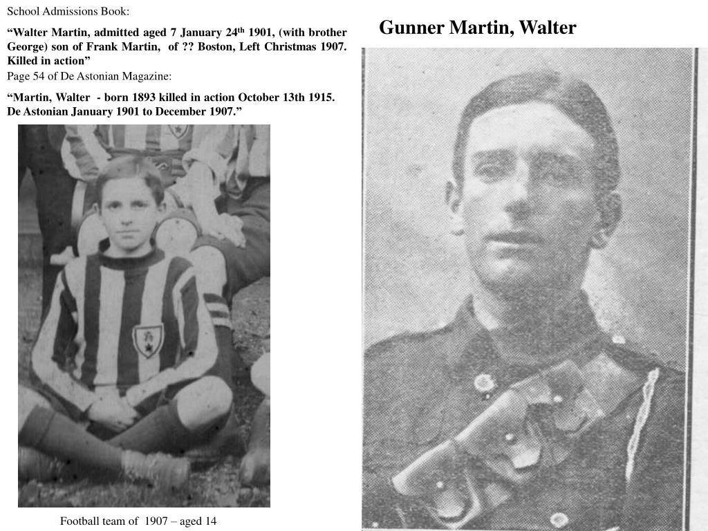 Gunner Martin, Walter