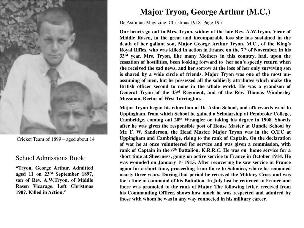 Major Tryon, George Arthur (M.C.)