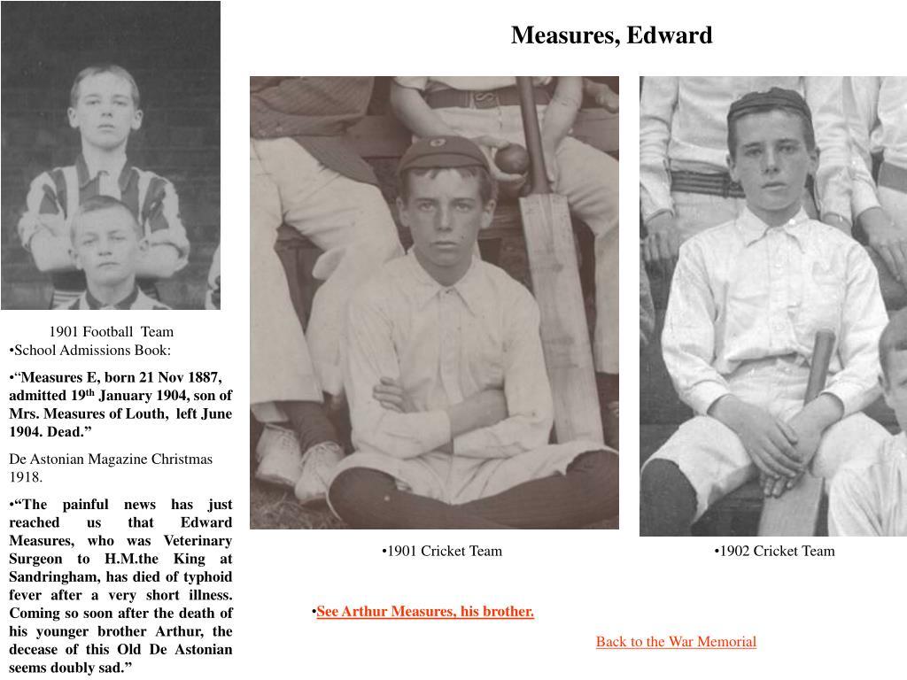 Measures, Edward