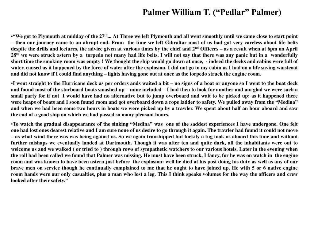 """Palmer William T. (""""Pedlar"""" Palmer)"""
