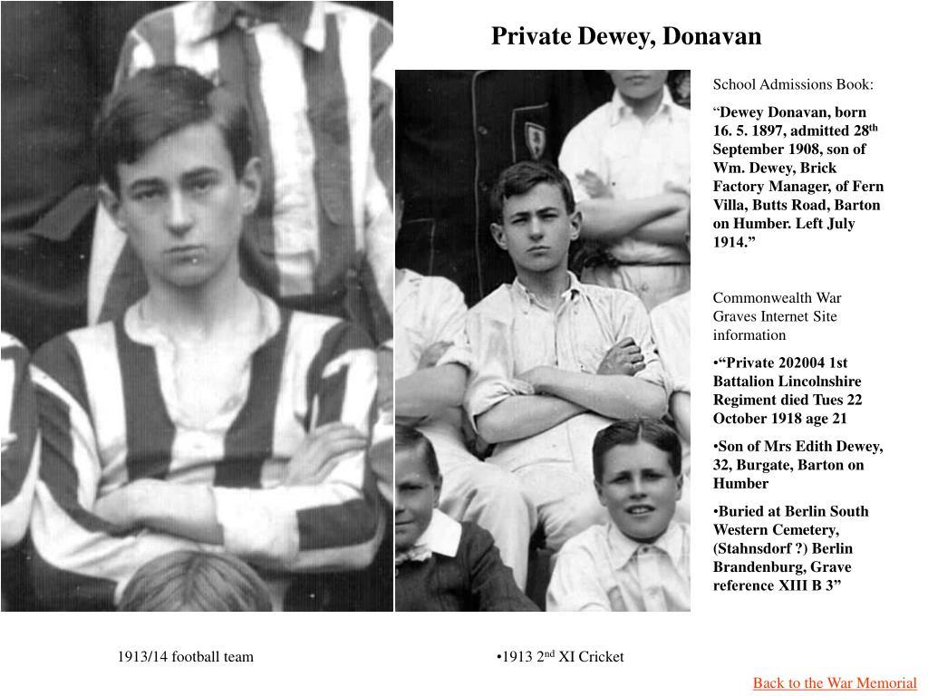 Private Dewey, Donavan