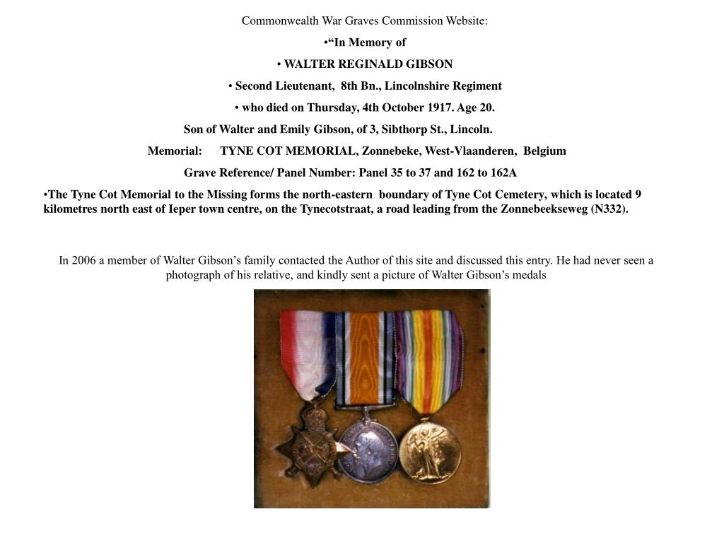 Commonwealth War Graves Commission Website: