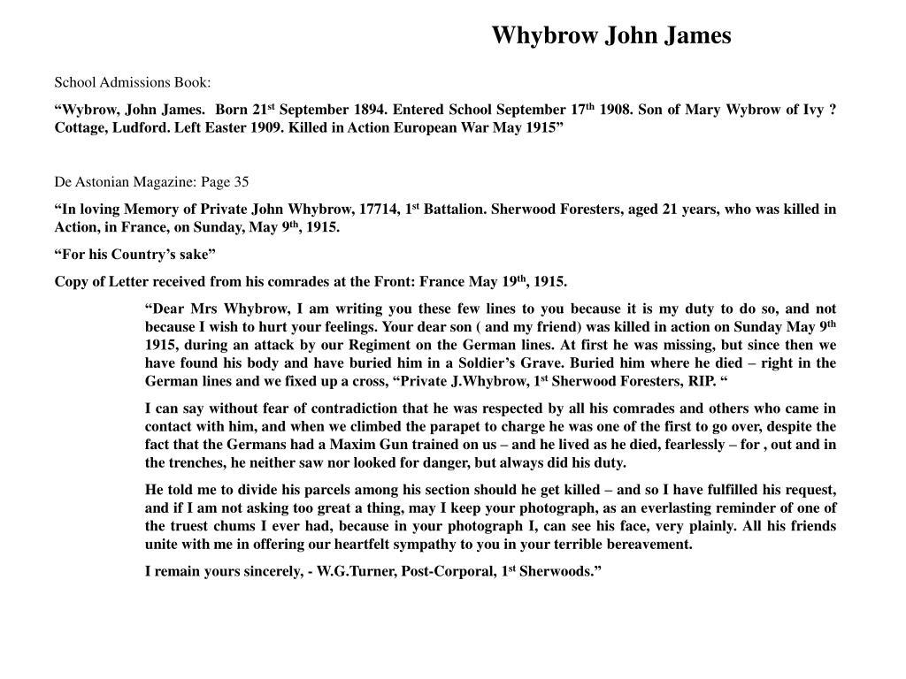 Whybrow John James