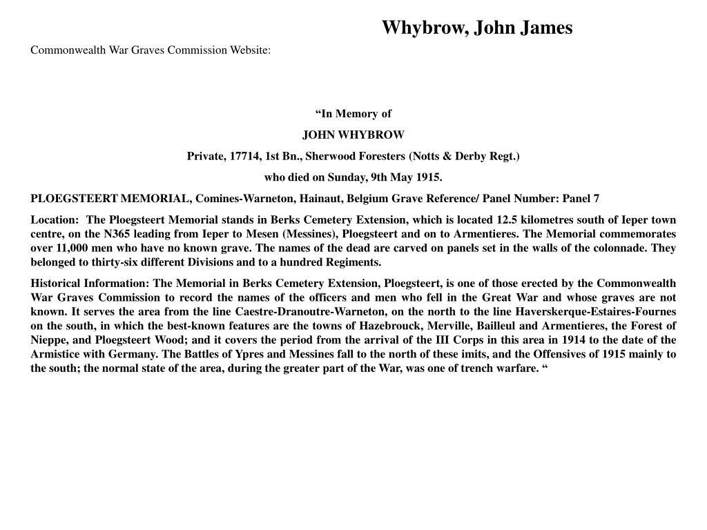 Whybrow, John James