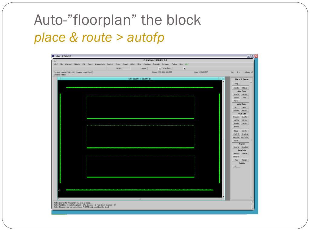 """Auto-""""floorplan"""" the block"""
