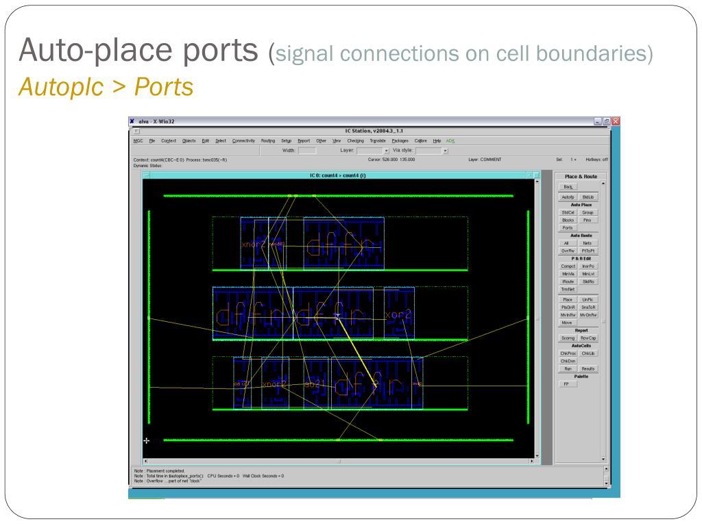 Auto-place ports