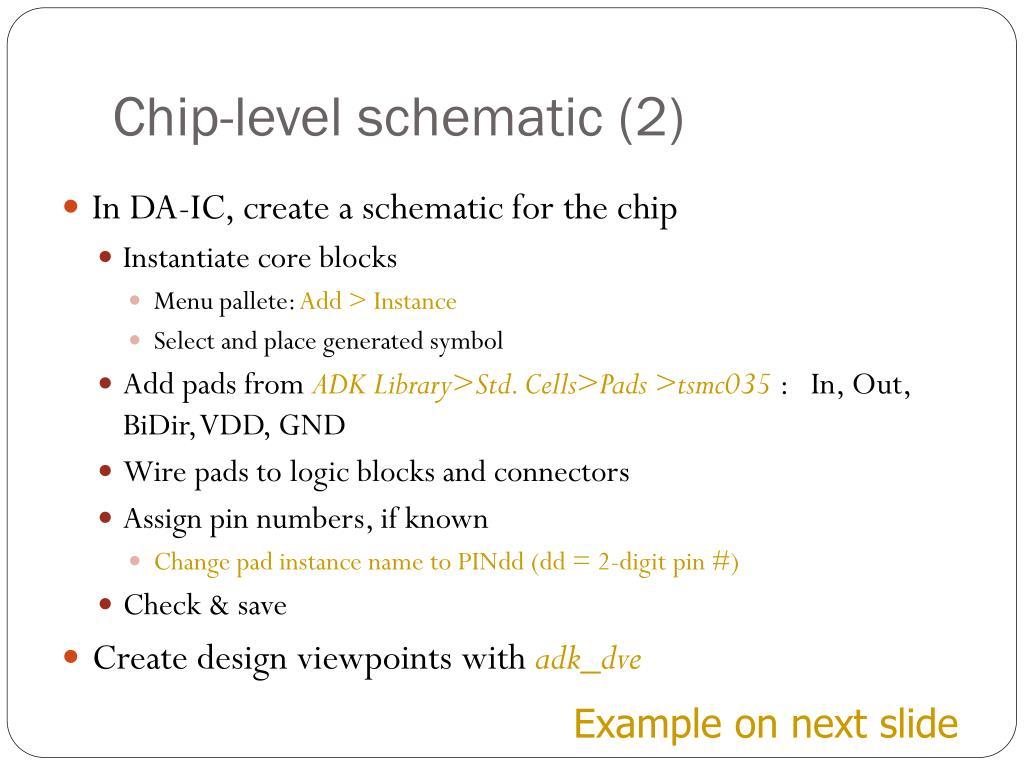 Chip-level schematic (2)