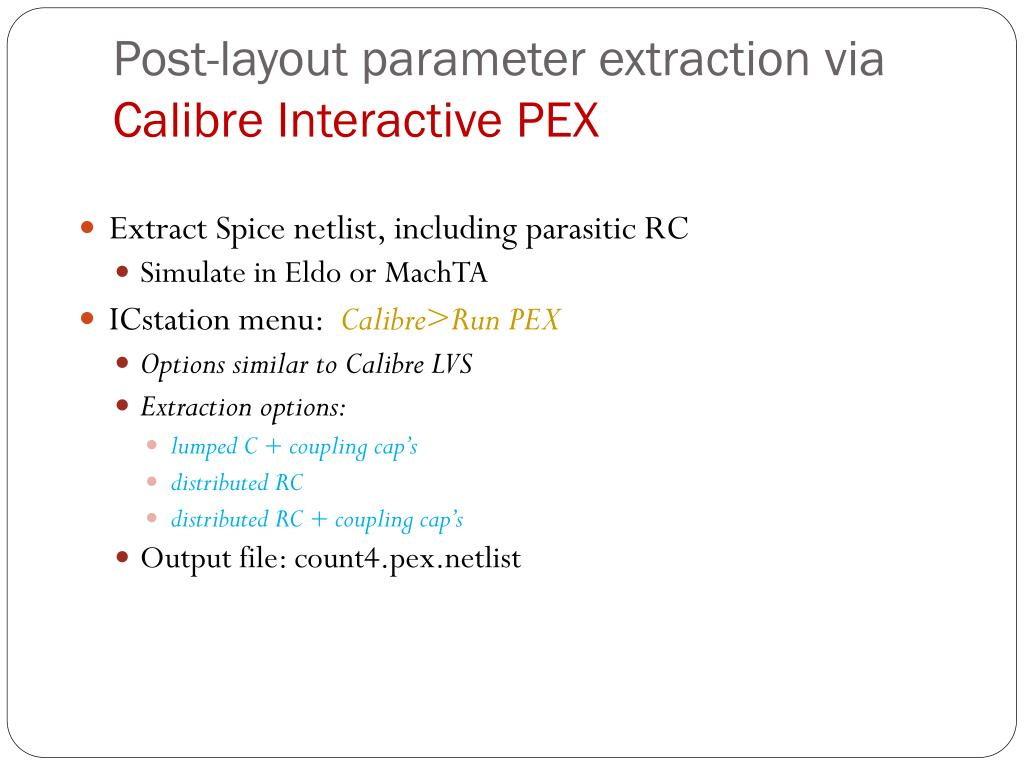 Post-layout parameter extraction via