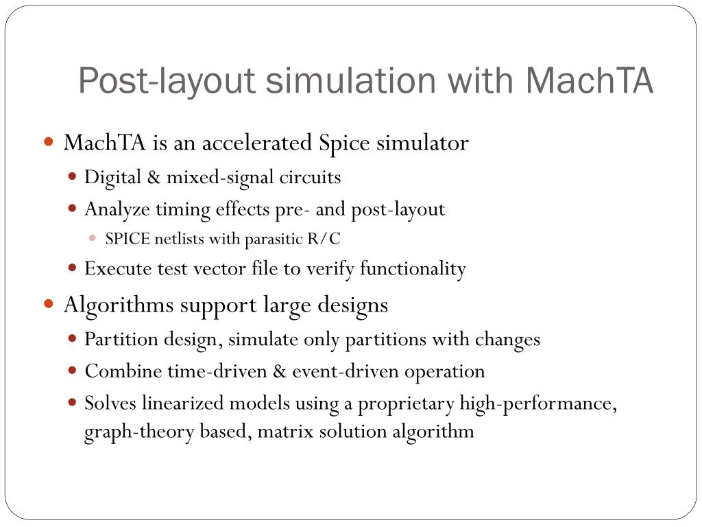 Post-layout simulation with