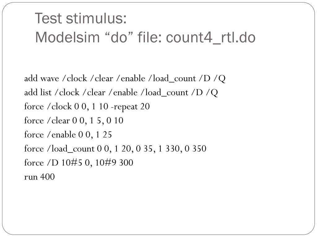 Test stimulus:
