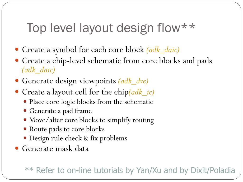 Top level layout design flow**