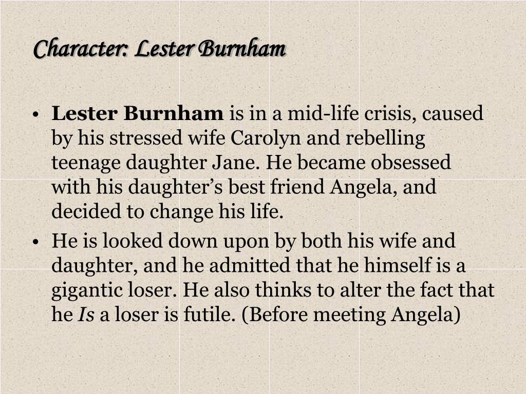 Character: Lester Burnham