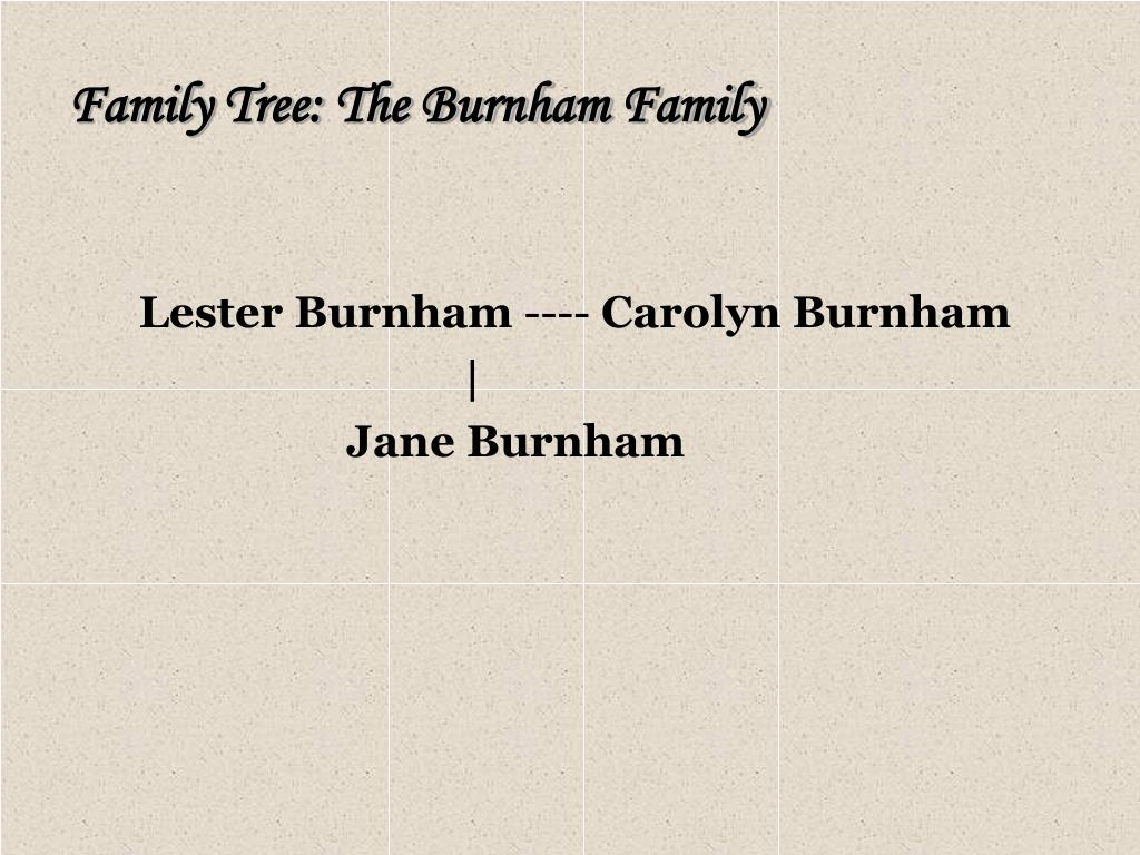 Family Tree: The Burnham Family