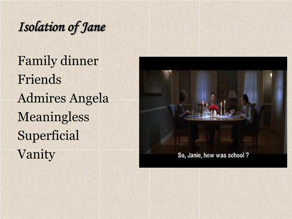 Isolation of Jane